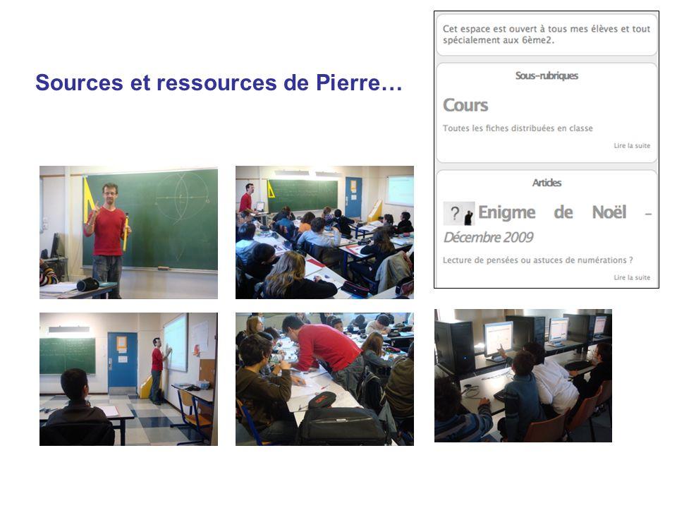 Sources et ressources de Pierre…