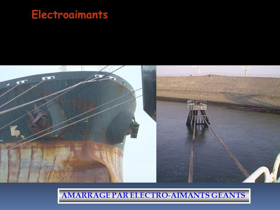 Electroaimants AMARRAGE PAR ELECTRO-AIMANTS GEANTS