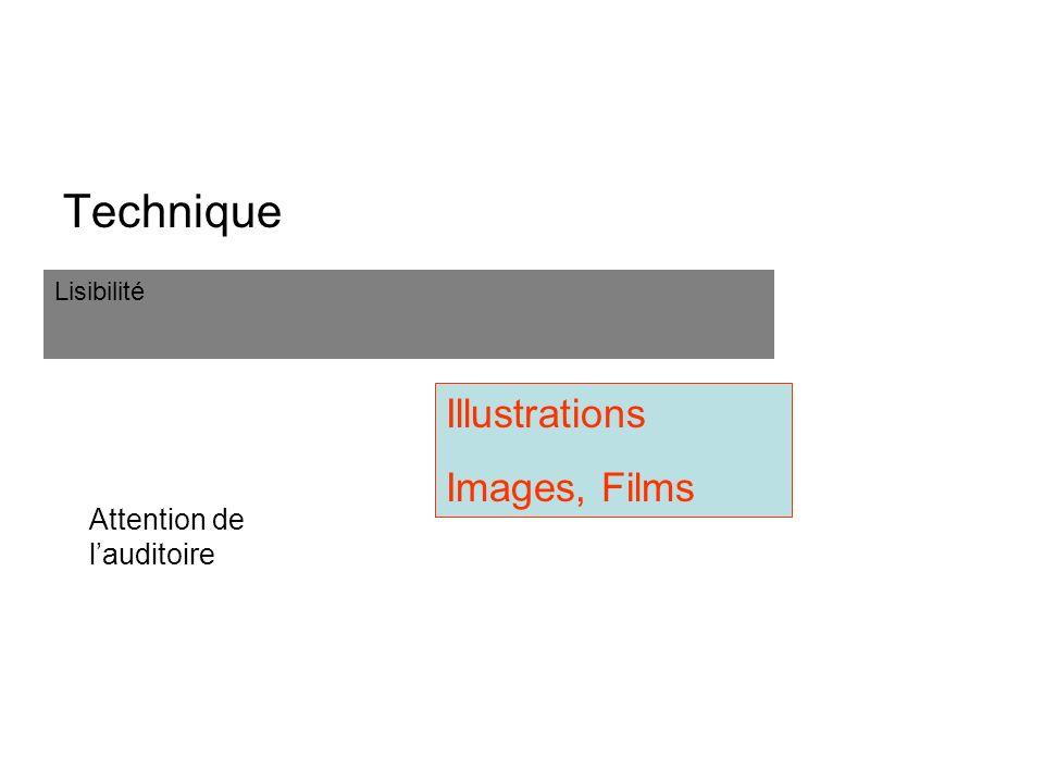 Power-point Technique Lisibilité Attention de lauditoire Illustrations Images, Films