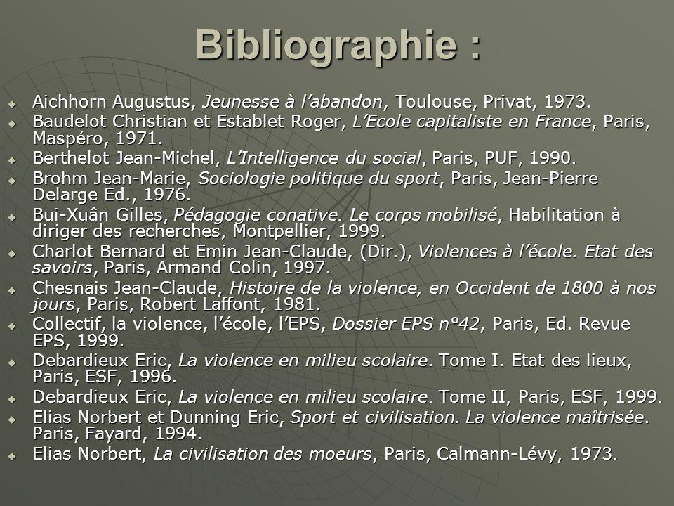 Bibliographie : Aichhorn Augustus, Jeunesse à labandon, Toulouse, Privat, 1973. Aichhorn Augustus, Jeunesse à labandon, Toulouse, Privat, 1973. Baudel