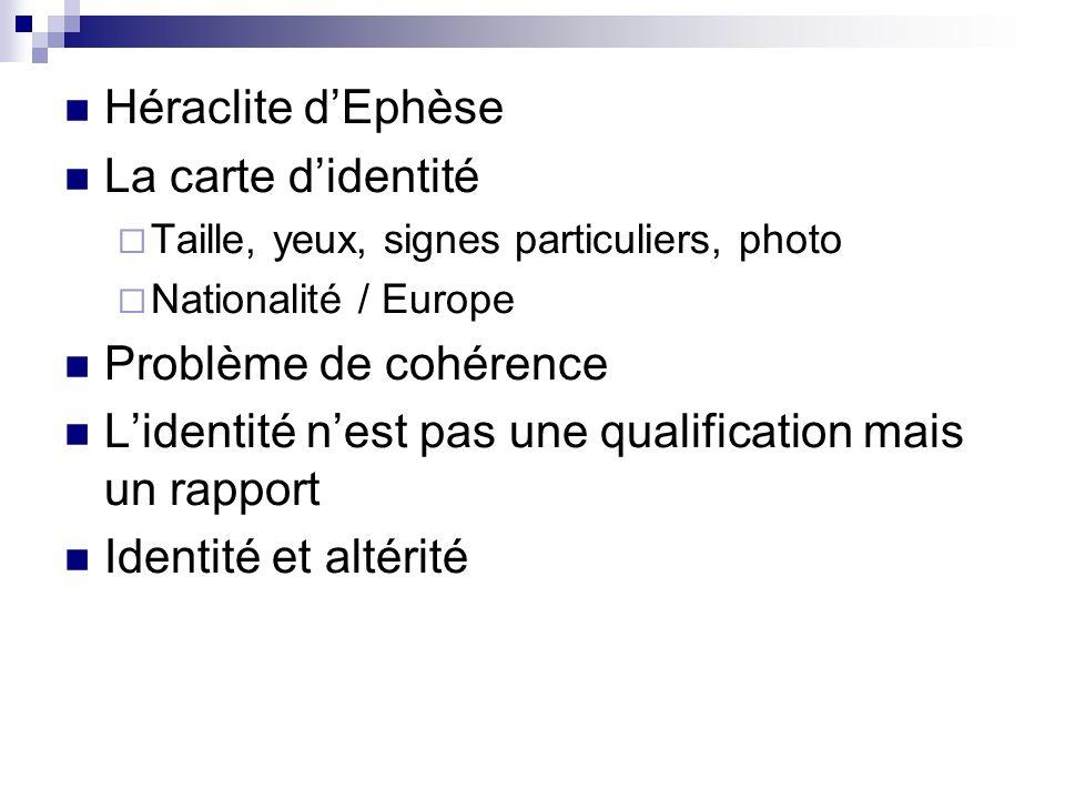 Identité et société Lidentité culturelle Le culturalisme = immuabilité Aujourdhui = mouvance Les institutions : secondarisation des institutions primaires Lex.