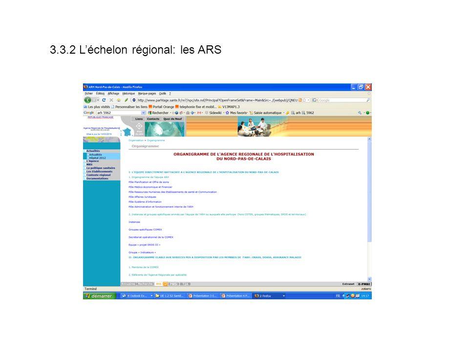 3.3.2 Léchelon régional: les ARS