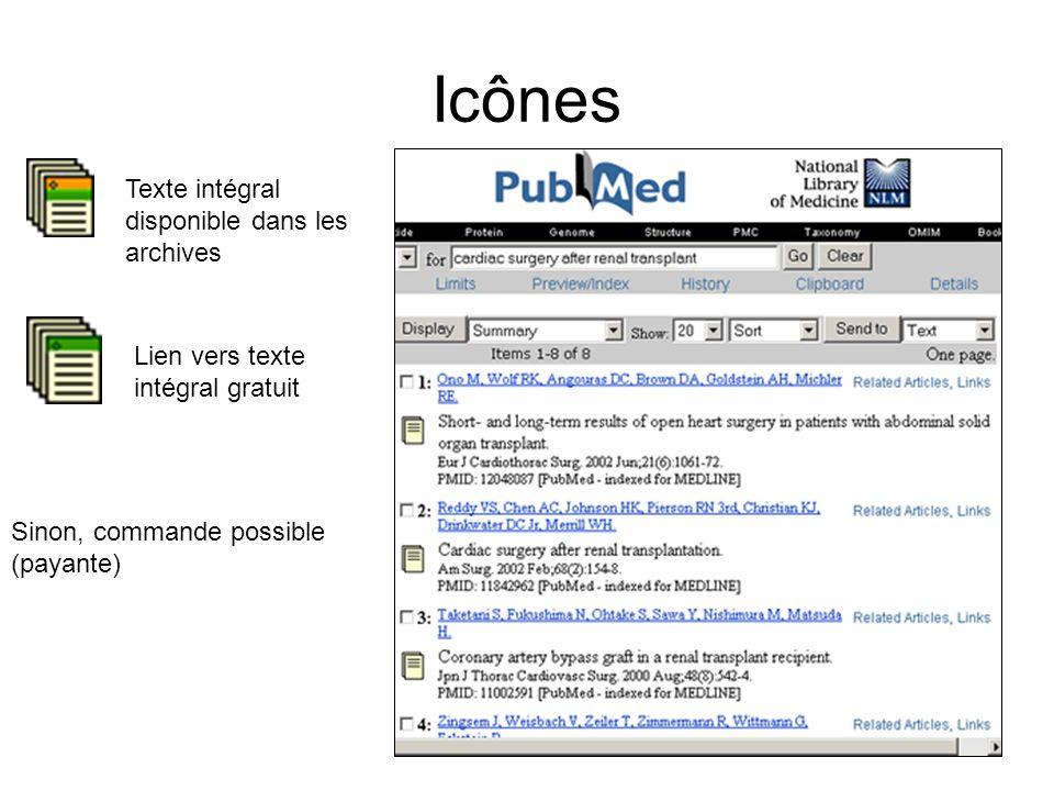 Icônes Texte intégral disponible dans les archives Lien vers texte intégral gratuit Sinon, commande possible (payante)