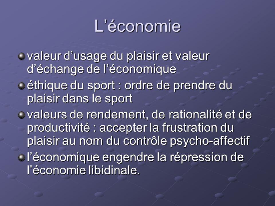 Léconomie valeur dusage du plaisir et valeur déchange de léconomique éthique du sport : ordre de prendre du plaisir dans le sport valeurs de rendement