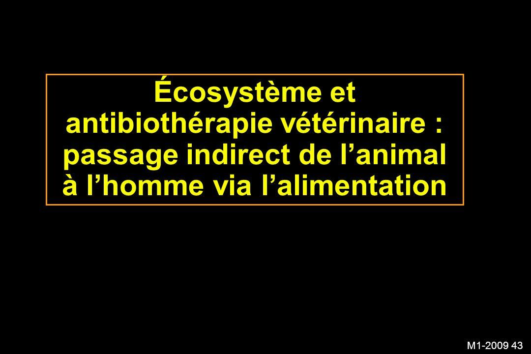 M1-2009 43 Écosystème et antibiothérapie vétérinaire : passage indirect de lanimal à lhomme via lalimentation