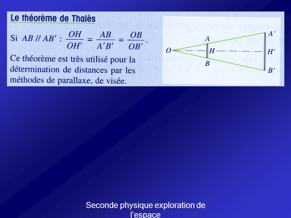 Seconde physique exploration de lespace