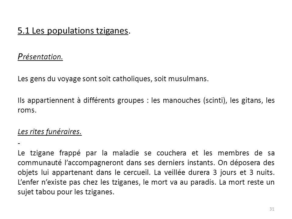 5 5.1 Les populations tziganes. P P résentation.