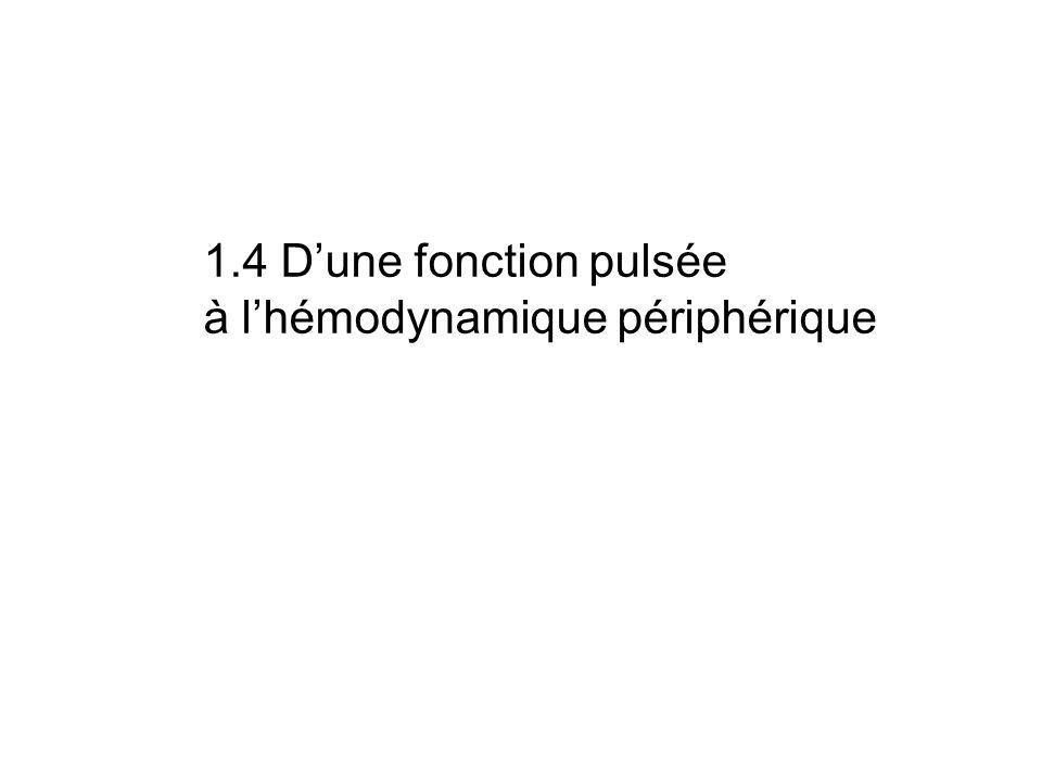 1.4 Dune fonction pulsée à lhémodynamique périphérique