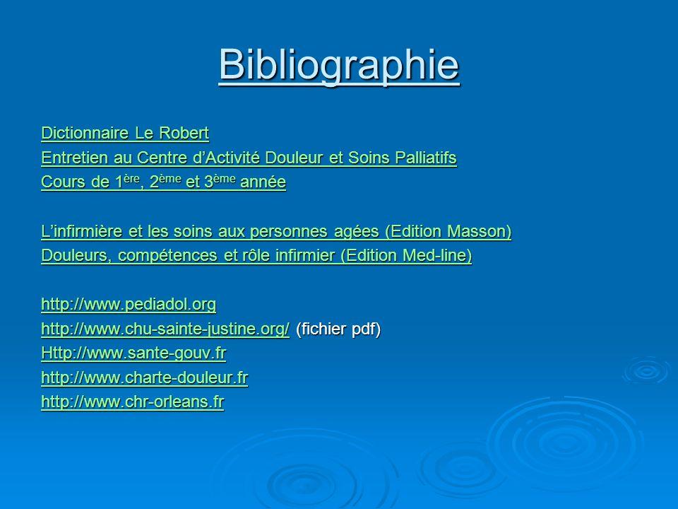 Bibliographie Dictionnaire Le Robert Dictionnaire Le Robert Entretien au Centre dActivité Douleur et Soins Palliatifs Entretien au Centre dActivité Do