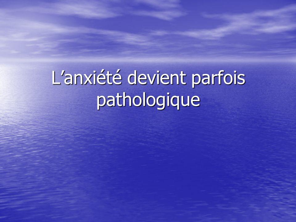 Lanxiété devient parfois pathologique