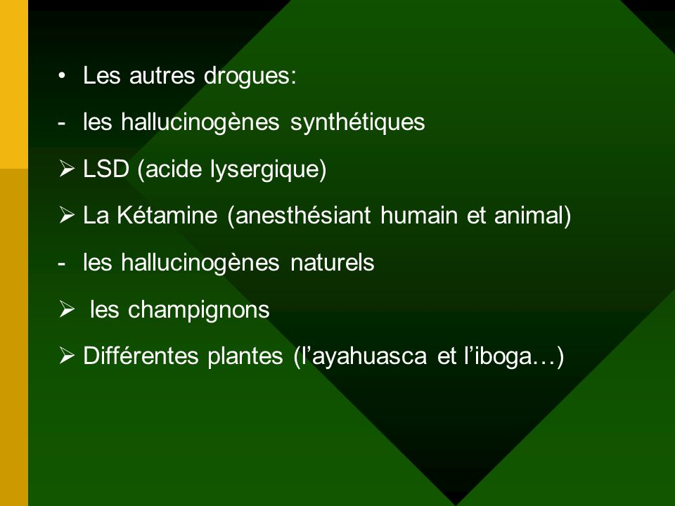 -poppers (nitrite), colles, solvants. -GBH (gamma OH) anesthésiant
