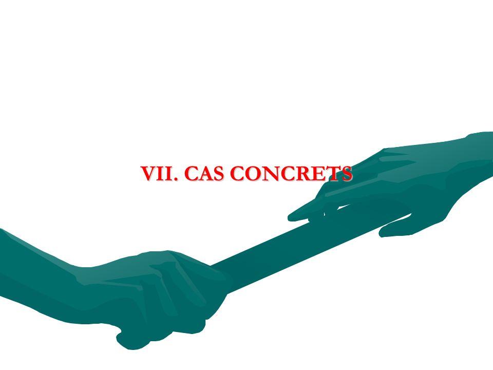 VII. CAS CONCRETS