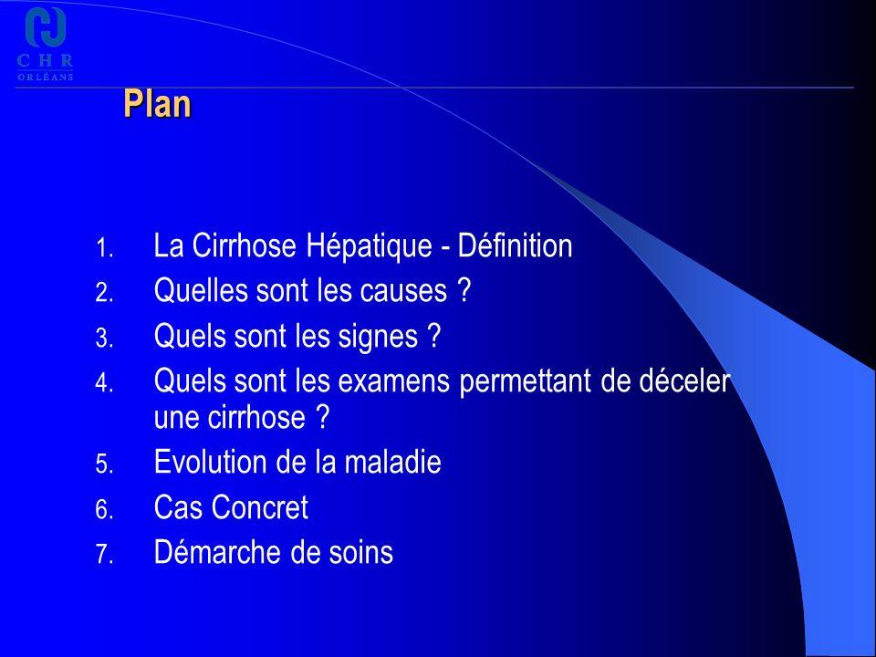 Plan 1.La Cirrhose Hépatique - Définition 2. Quelles sont les causes .