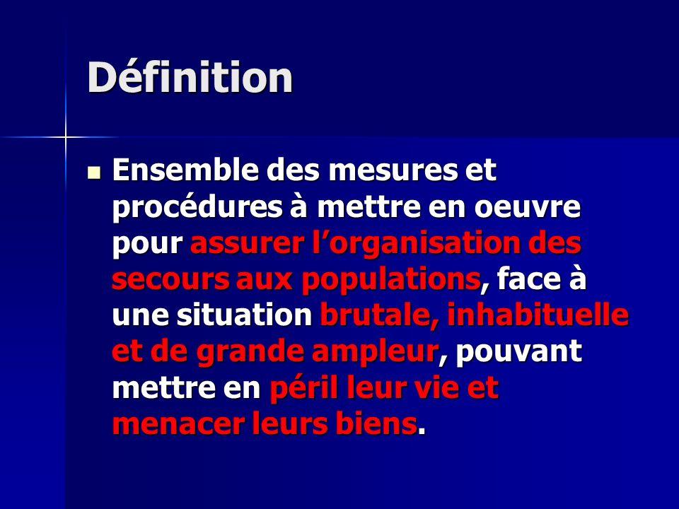 ORSEC PPI (Plan particulier d intervention) Extension d un risque à l extérieur du site : implication des moyens de secours extérieurs.
