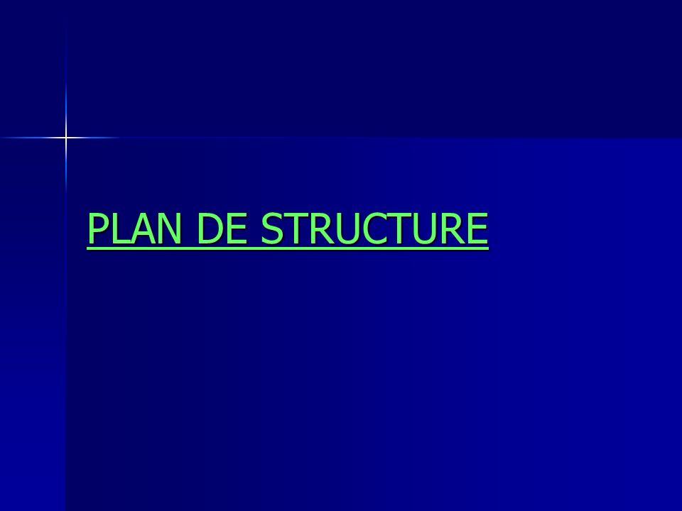PLAN DE STRUCTURE