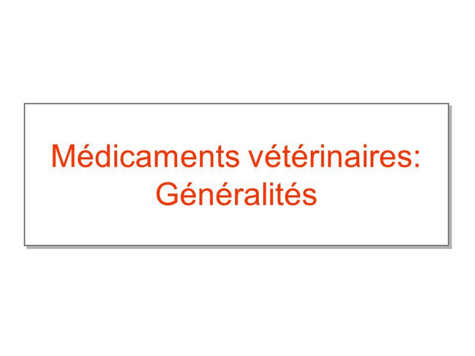 Médicaments vétérinaires: Généralités