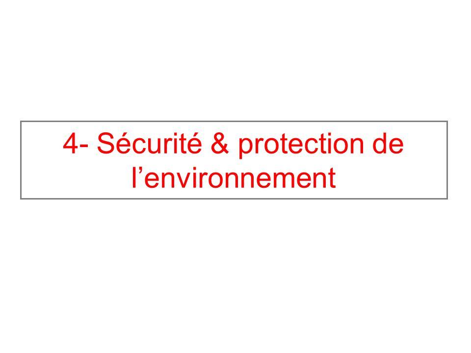 4- Sécurité & protection de lenvironnement