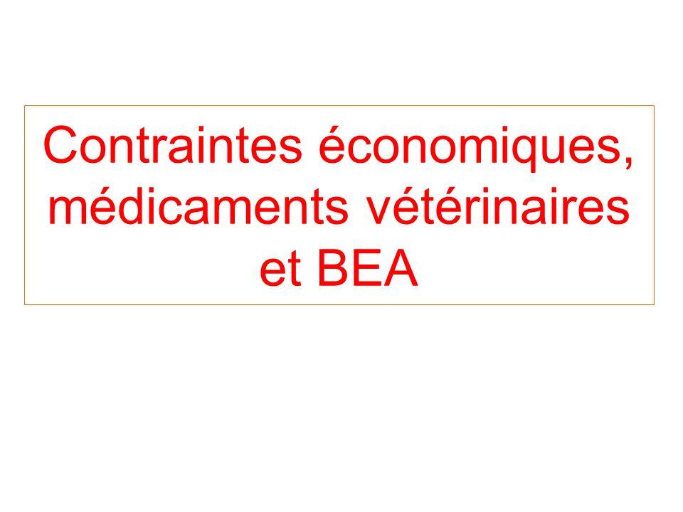 Contraintes économiques, médicaments vétérinaires et BEA