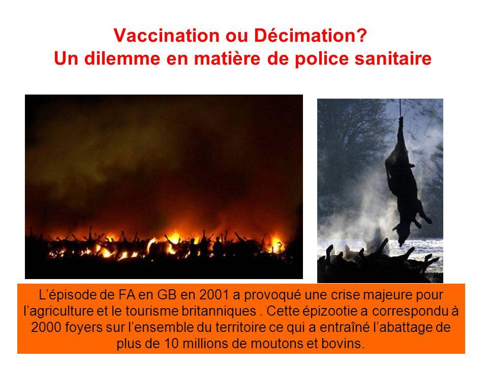 Vaccination ou Décimation.