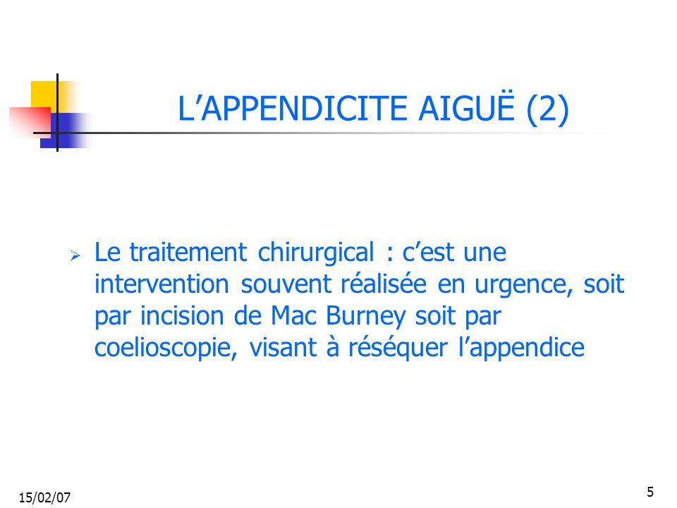 15/02/07 36 ABCES DE LA MARGE ANALE Abcès de la marge anale collecté