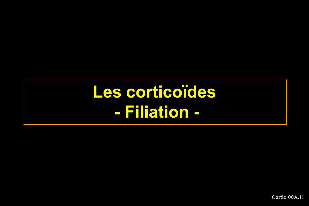 Cortic 00A.11 Les corticoïdes - Filiation -
