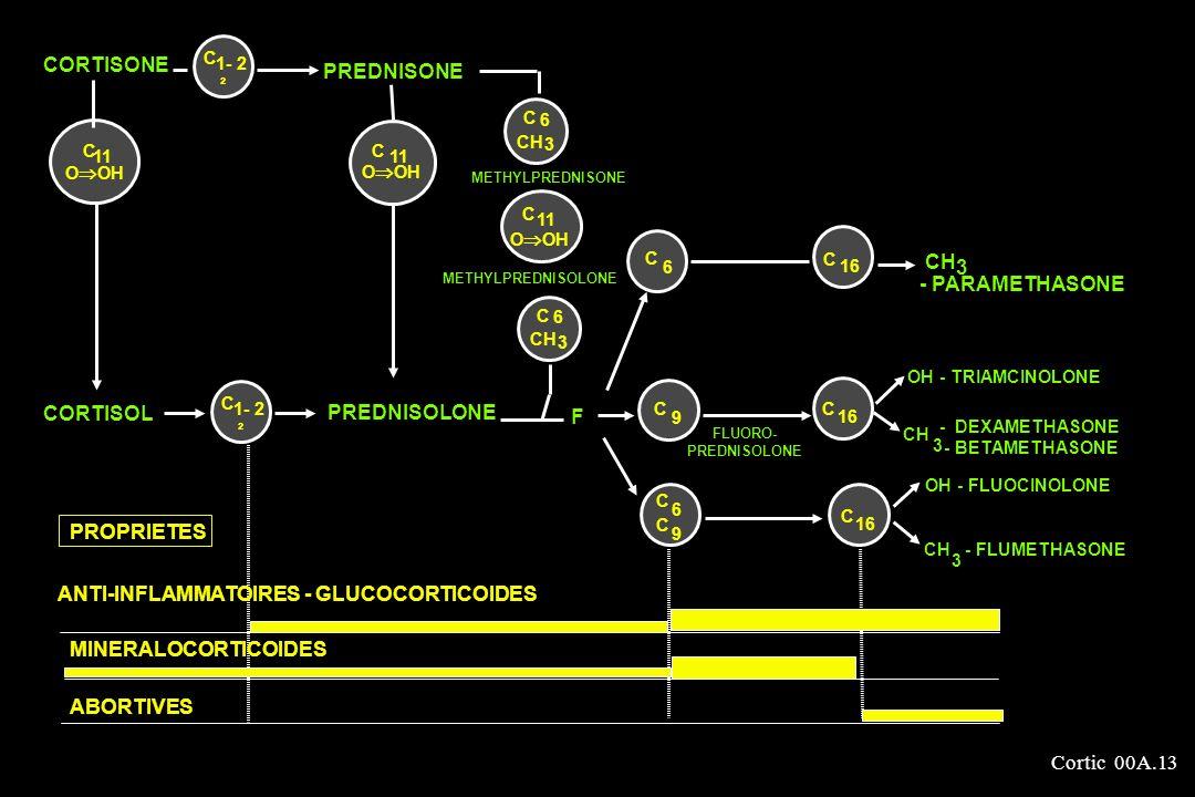 Cortic 00A.13 CORTISONE PREDNISONE C 16 C 6 FLUORO- PREDNISOLONE C 9 16 C C CH 3 C 11 O OH METHYLPREDNISONE METHYLPREDNISOLONE C 11 O OH C 6 C 9 OH -