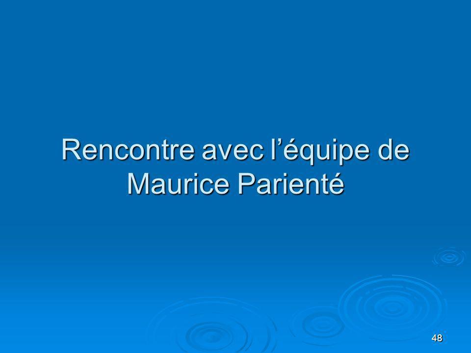 48 Rencontre avec léquipe de Maurice Parienté