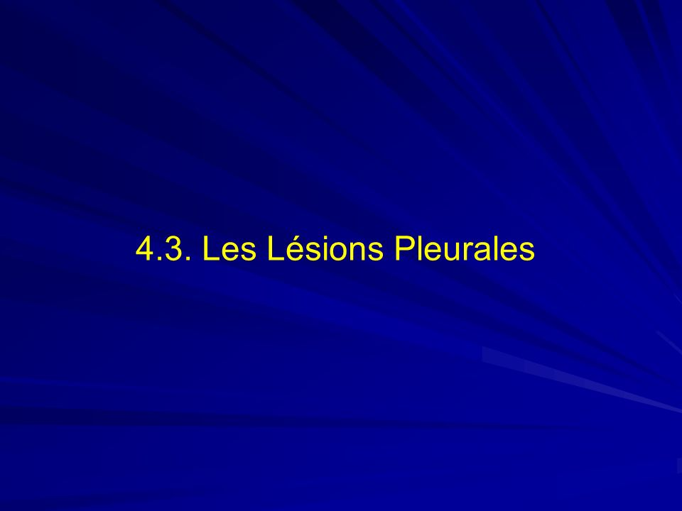 4.3. Les Lésions Pleurales