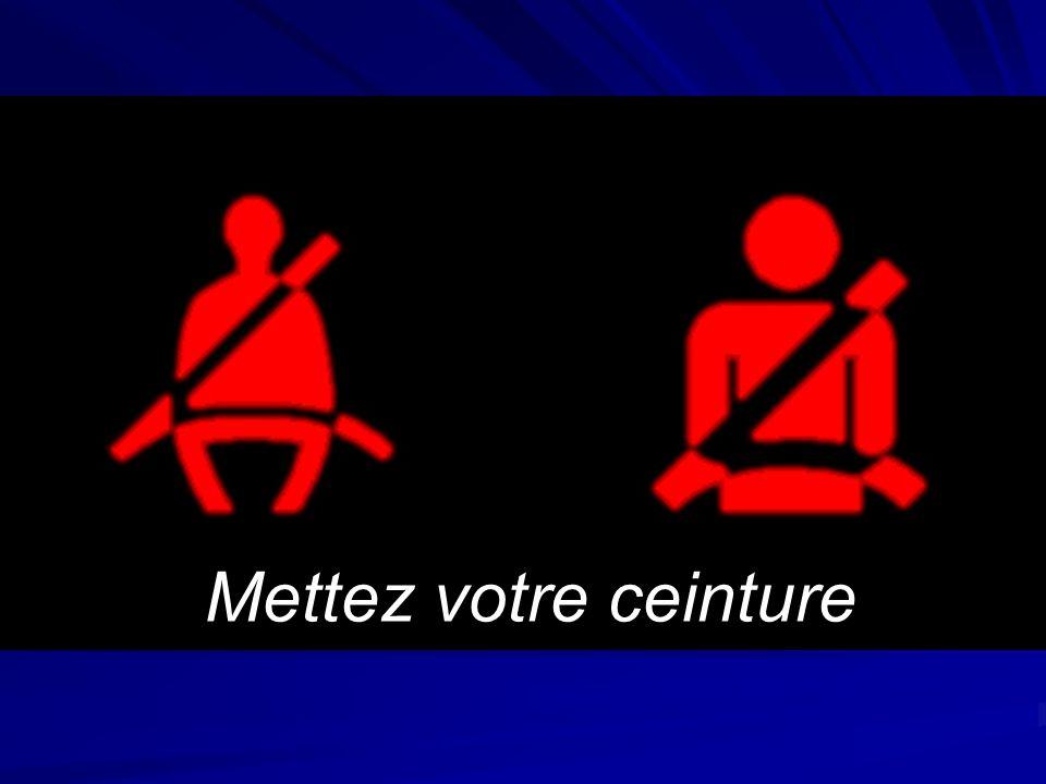 Ce quil faut retenir Mettez votre ceinture