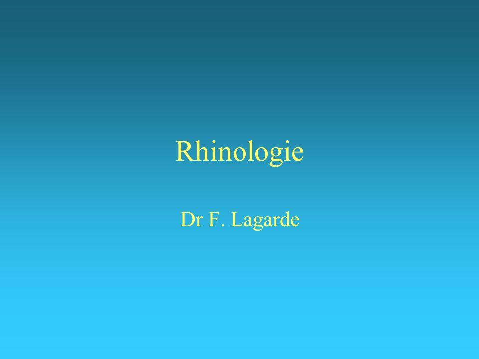 1 Les fosses nasales anatomie « académique », radiologique et endoscopique : cf cours anatomie et physiologie