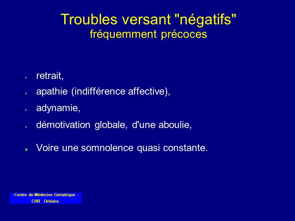 - Centre de Médecine Gériatrique - CHR Orléans Troubles versant