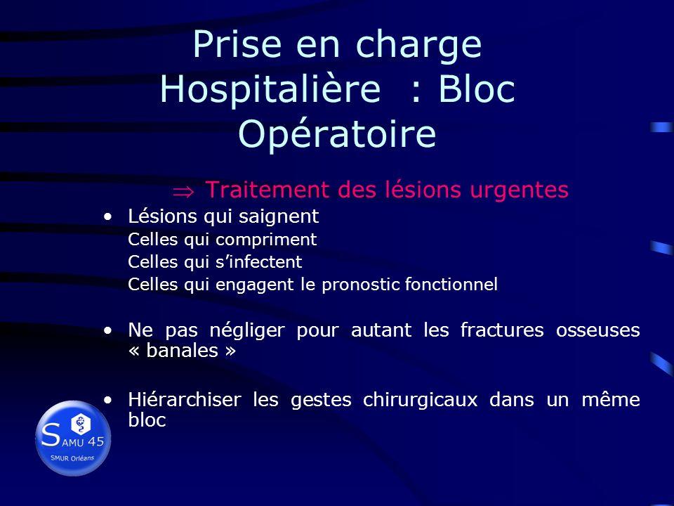 Prise en charge Hospitalière : Imagerie Diagnostic précis des lésions, dans le service de radiologie TDM cérébrale : systématique si trouble de consci