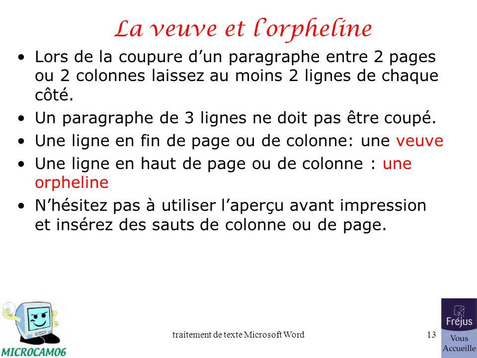 traitement de texte Microsoft Word12 Film QuickTime : entête et pied de page