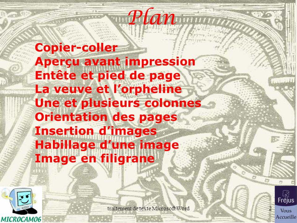 ©Yves Roger Cornil Microcam06, Fréjus Vous Accueille Rentrée 2005 Microsoft Word 2002.
