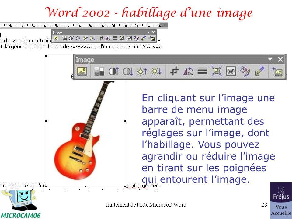 traitement de texte Microsoft Word27 Film QuickTime : insertion dune image