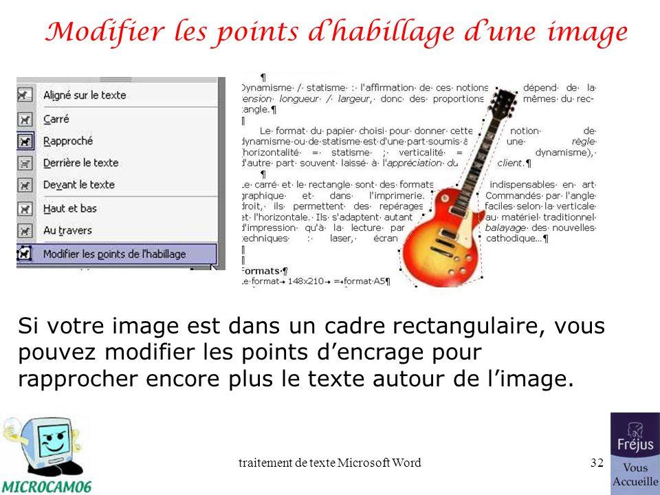 traitement de texte Microsoft Word31 Film QuickTime : habillage dune image