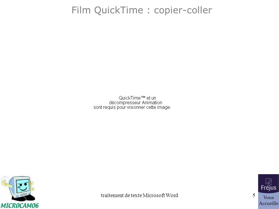 traitement de texte Microsoft Word4 Copier-coller Allez dans édition Coller.