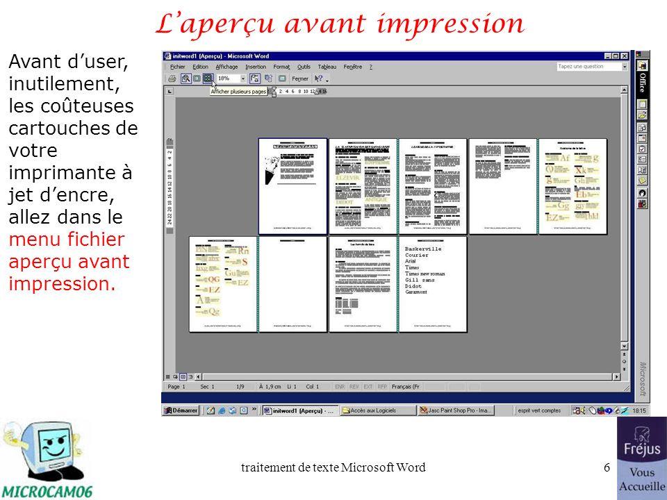traitement de texte Microsoft Word5 Film QuickTime : copier-coller
