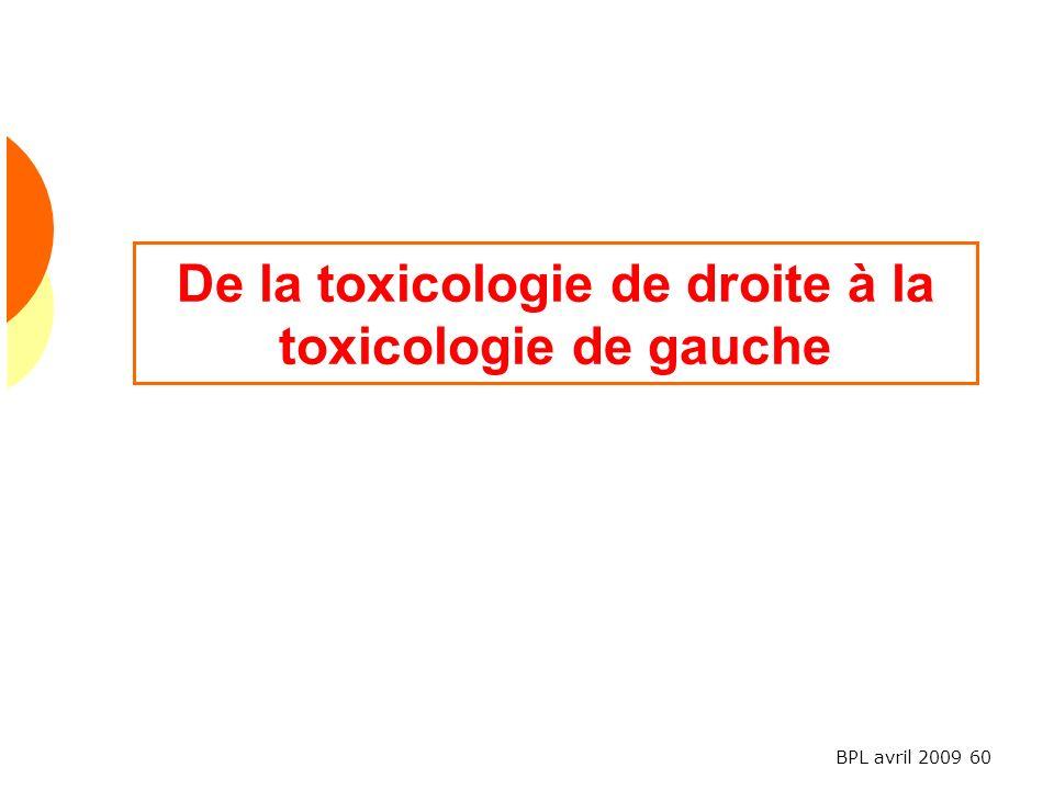 BPL avril 2009 60 De la toxicologie de droite à la toxicologie de gauche