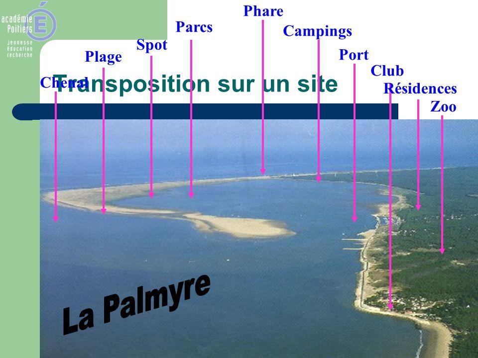Transposition sur un site Chenal Plage Spot Parcs Phare Campings Port Club Résidences Zoo