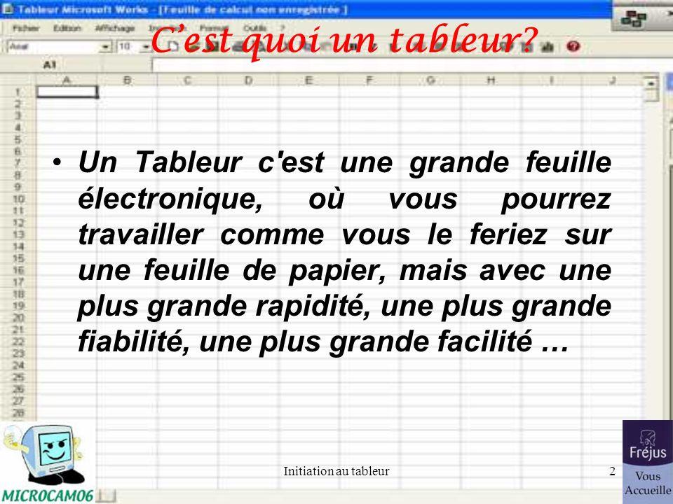Initiation au tableur ©Yves Roger Cornil Microcam06, Fréjus Vous Accueille Octobre 2004