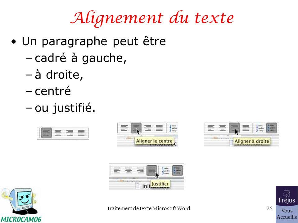 traitement de texte Microsoft Word24 Film QuickTime