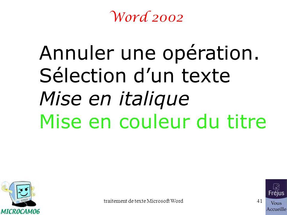 traitement de texte Microsoft Word40 Film QuickTime : justifier un paragraphe