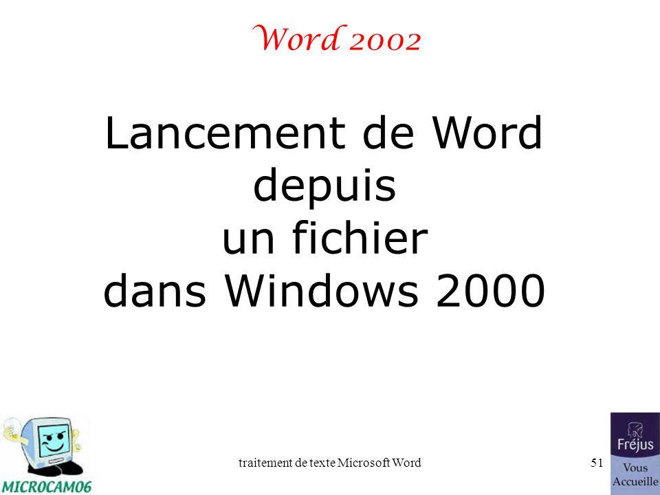 traitement de texte Microsoft Word50 Film QuickTime : enregistrer un fichier sous Windows xp