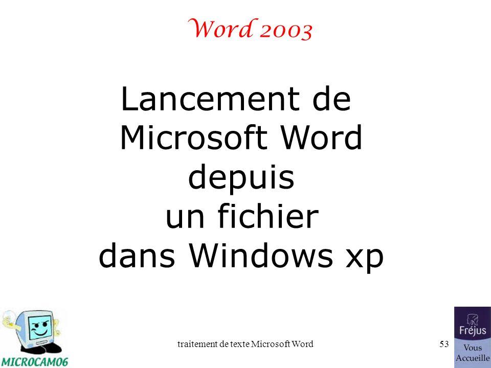 traitement de texte Microsoft Word52 Film QuickTime