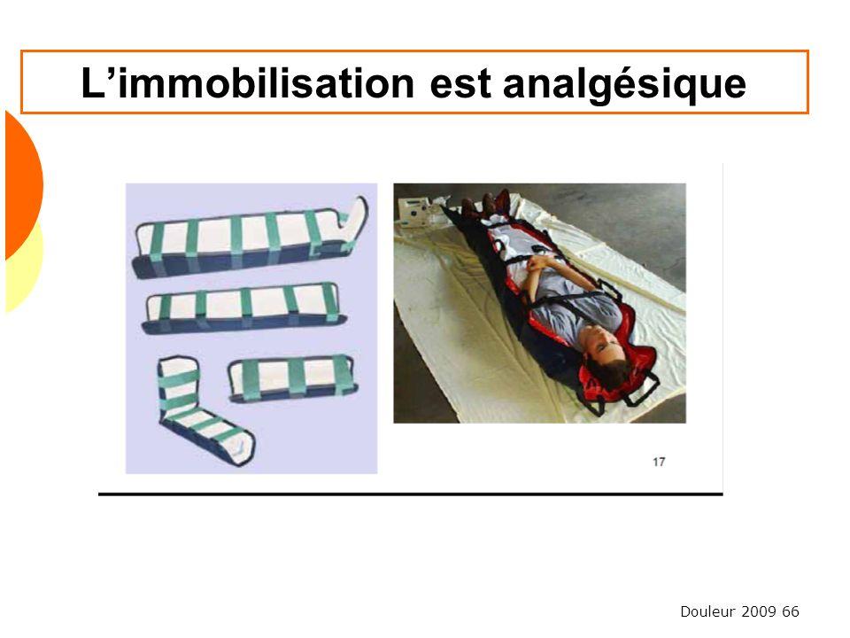 Douleur 2009 66 Limmobilisation est analgésique