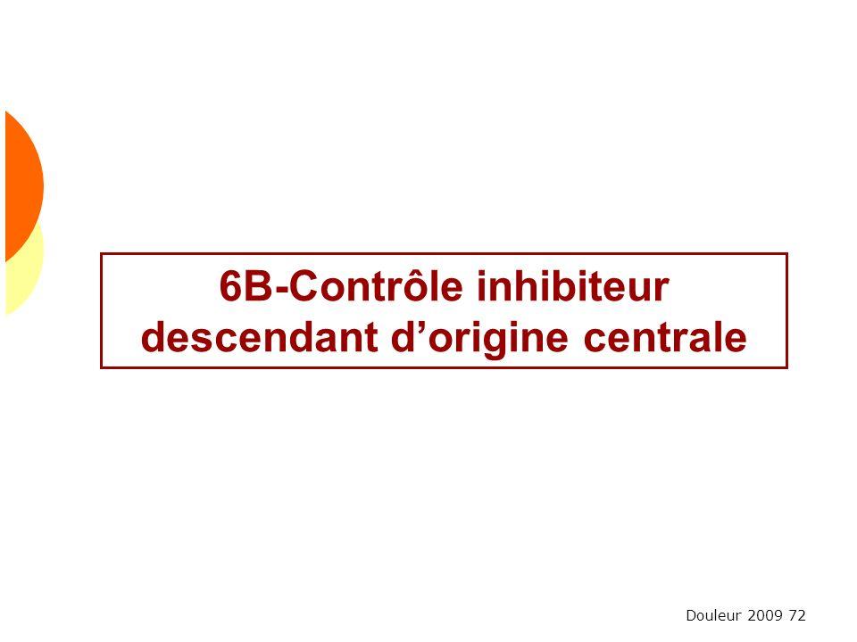 Douleur 2009 72 6B-Contrôle inhibiteur descendant dorigine centrale