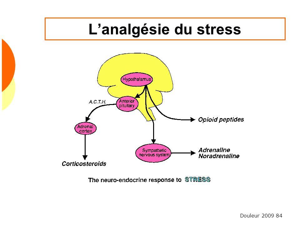 Douleur 2009 84 Lanalgésie du stress