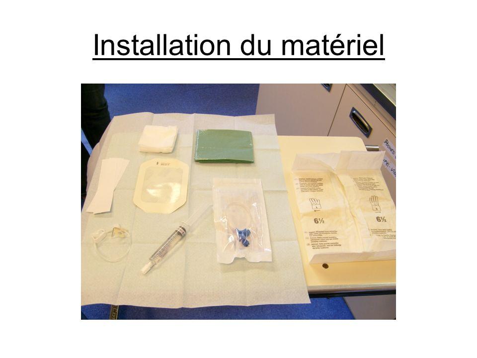 Installation du matériel
