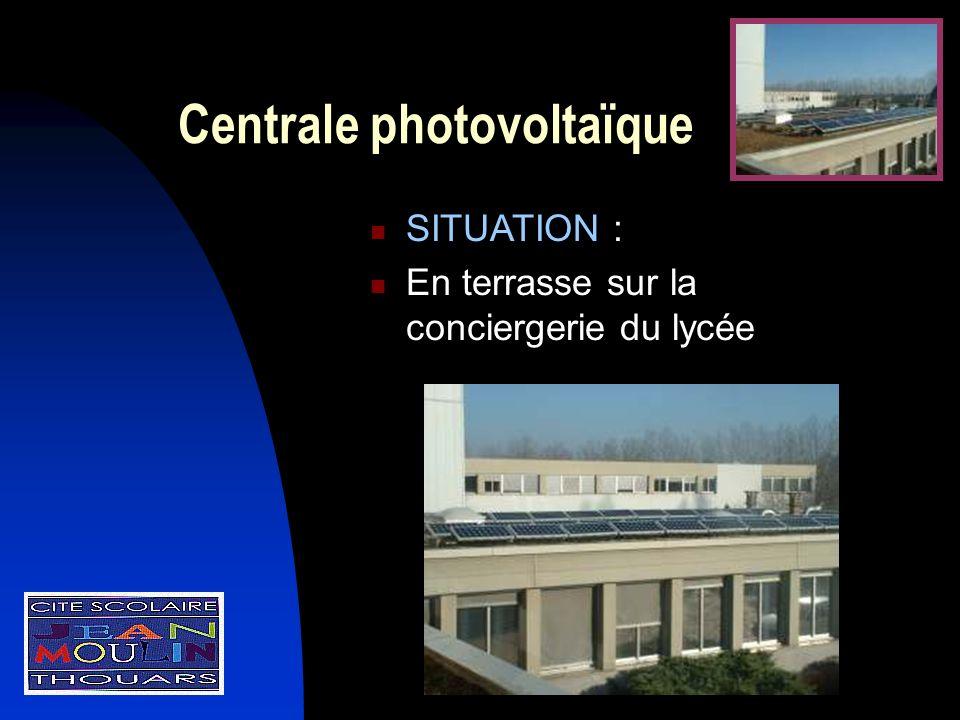 Centrale photovoltaïque SITUATION : En terrasse sur la conciergerie du lycée